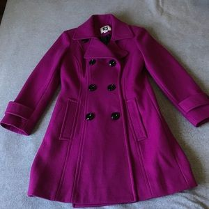 NWT. Anne Kline double breasted wool coat